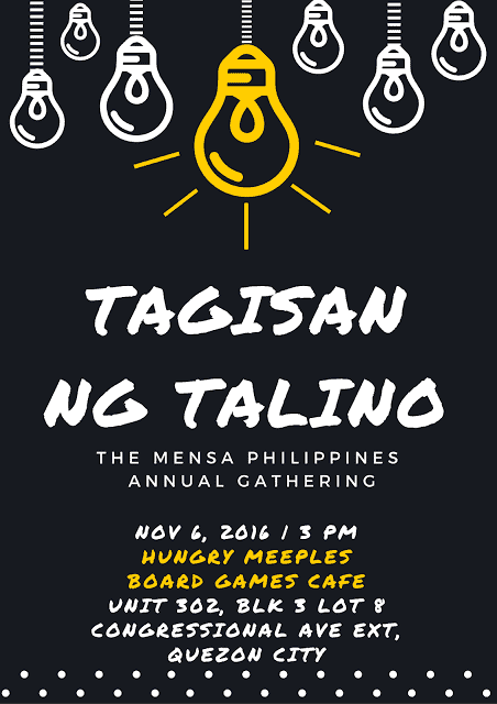 "Mensa Philippines holds its Annual Gathering ""tAGisan ng talino"""