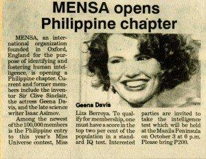 19921001 Philippine Star - Geena Davis b
