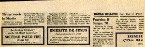 19921002 Manila Bulletin - Menza in Manila