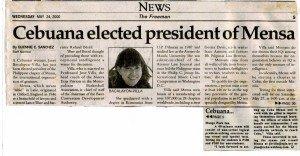 20000524 The Freeman - Cebuana president